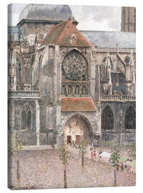 Canvas print  Church of Saint Jacques in Dieppe - Camille Pissarro