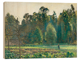 Wood print  The cabbage field, Pontoise - Camille Pissarro