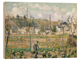 Wood print  The garden of Maubuisson - Camille Pissarro