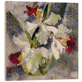Wood print  Orchids II - Augusto Giacometti