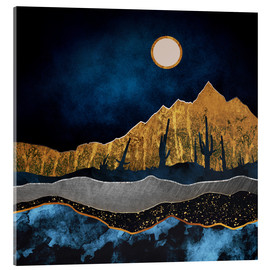 Acrylic print  Midnight in the desert - SpaceFrog Designs