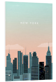 Foam board print  Illustration of New York - Katinka Reinke