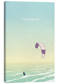 Canvas  Kitesurfer on Fehmarn illustration - Katinka Reinke