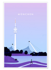 Premium poster Munich illustration