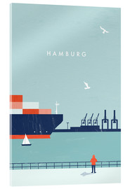 Acrylic glass  Hamburg Illustration - Katinka Reinke