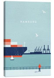 Canvas  Hamburg Illustration - Katinka Reinke