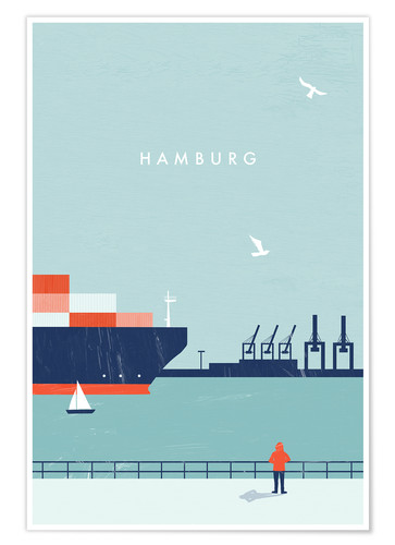 Premium poster Hamburg Illustration