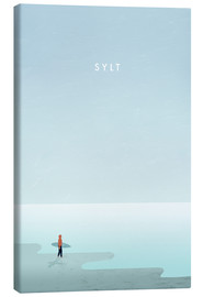 Canvas print  Sylt surfer illustration - Katinka Reinke
