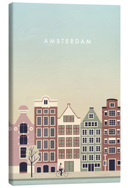 Canvas  Amsterdam Illustration - Katinka Reinke