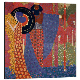 Aluminium print  The princesses and the warriors - Vittorio Zecchin