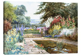 Canvas print  The lily pond - Theresa Sylvester  Stannard