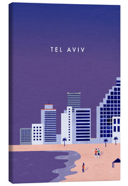 Canvas print  TelAviv Illustration - Katinka Reinke