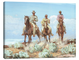 Canvas print  Riders of the Painted Desert - Carl Oscar Borg