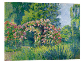 Acrylic print  The Monet Rose Garden - Blanche Hoschede-Monet