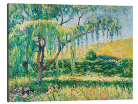 Aluminium print  Willow, rose garden and water lilies in Giverny - Blanche Hoschede-Monet