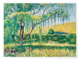 Premium poster Willow, rose garden and water lilies in Giverny