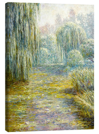 Canvas print  The garden in Giverny - Blanche Hoschede-Monet