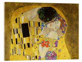 Acrylic print  The kiss (detail) - Gustav Klimt