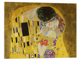 Foam board print  The kiss (detail) - Gustav Klimt