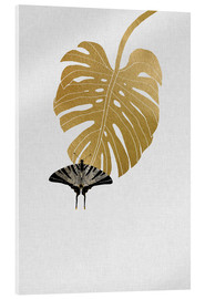 Acrylic print  Butterfly & Monstera - Orara Studio