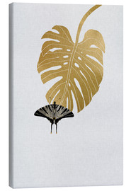 Canvas print  Butterfly & Monstera - Orara Studio
