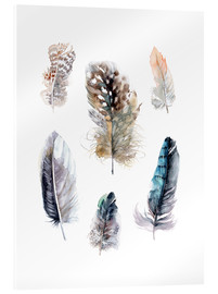 Acrylic glass  Feathers collection - Verbrugge Watercolor