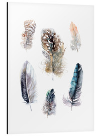 Aluminium print  Feathers collection - Verbrugge Watercolor