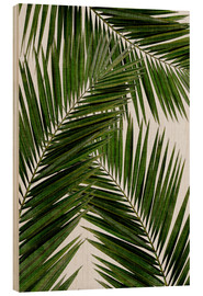Wood print  Palm leaf III - Orara Studio