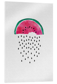 Acrylic glass  Watermelon Rain - Orara Studio