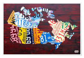 Premium poster  License Plate Map of Canada - Design Turnpike