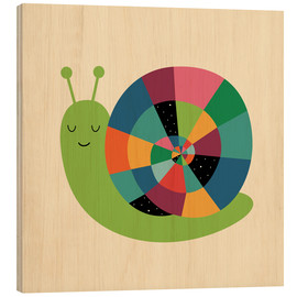 Wood print  Snail Time - Andy Westface