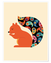 Poster  Paisley Squirrel - Andy Westface