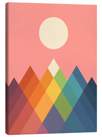 Canvas print  Rainbow Peak - Andy Westface