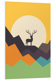 Foam board print  Deer - Andy Westface