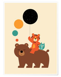 Poster  The little explorers - Andy Westface