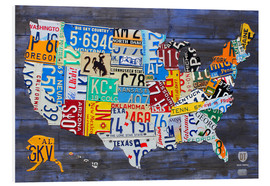 Foam board print  License Plate Map of the USA - Design Turnpike