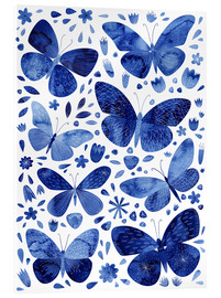Acrylic print  Butterflies China blue - Nic Squirrell