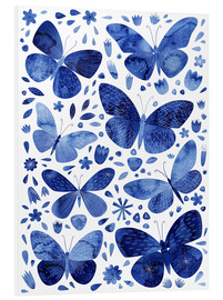 Foam board print  Butterflies China blue - Nic Squirrell