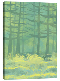 Canvas print  Glade with deer - Nic Squirrell