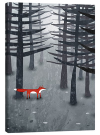 Canvas print  The fox and the forest - Nic Squirrell