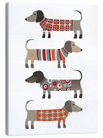 Canvas print  Sausage Dogs in Sweaters - Nic Squirrell