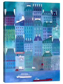 Canvas print  Night blue in Paris - Nic Squirrell