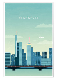 Premium poster Illustration of Frankfurt