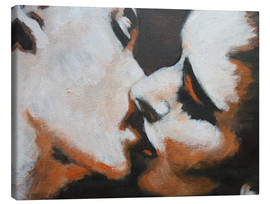 Canvas print  Lovers -  Kiss 6 - Carmen Tyrrell