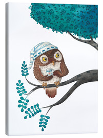 Canvas print  sleepless owl - Leonora Camusso