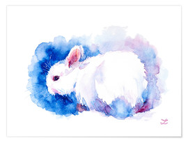 Premium poster White Rabbit
