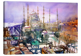 Canvas  Istanbul, view to the blue mosque - Johann Pickl