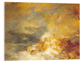 Acrylic print  Fire at sea - Joseph Mallord William Turner