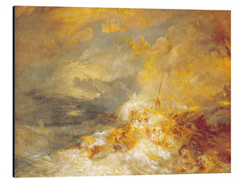 Aluminium print  Fire at sea - Joseph Mallord William Turner