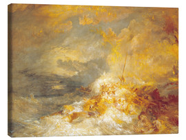 Canvas print  Fire at sea - Joseph Mallord William Turner